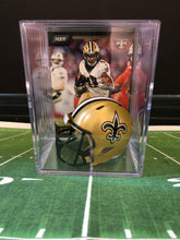 Load image into Gallery viewer, New Orleans Saints NFL mini helmet shadowbox w/ player card - Super Fan Cave