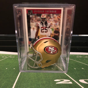 San Francisco 49ers NFL mini helmet shadowbox w/ player card - Super Fan Cave