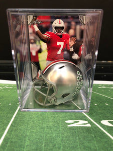 Ohio State Buckeyes NCAA mini helmet shadowbox w/ player card - Super Fan Cave