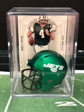 Load image into Gallery viewer, NEW Green New York Jets mini helmet shadowbox w/ player card - Super Fan Cave