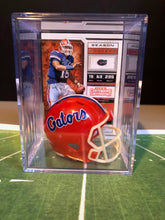 Load image into Gallery viewer, Florida Gators NCAA mini helmet shadowbox w/ player card - Super Fan Cave
