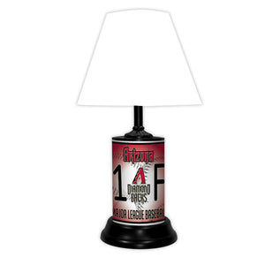 MLB Baseball #1 Fan Team Logo License Plate made Lamp with shade - Super Fan Cave
