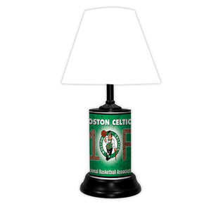 NBA Basketball #1 Fan Team Logo License Plate made Lamp with shade - Super Fan Cave