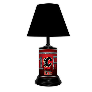 NHL Hockey #1 Fan Team Logo License Plate made Lamp with shade - Super Fan Cave