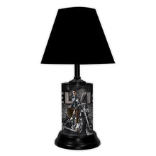 Load image into Gallery viewer, Elvis Presley License Plate made Lamp with shade - Super Fan Cave