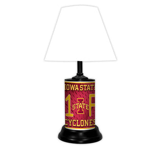 NCAA College #1 Fan Team Logo License Plate made Lamp with shade - Super Fan Cave