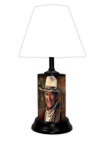 John Wayne License Plate made Lamp with shade - Super Fan Cave