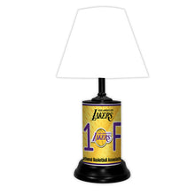 Load image into Gallery viewer, NBA Basketball #1 Fan Team Logo License Plate made Lamp with shade - Super Fan Cave
