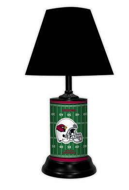 NFL Football Field Team Logo License Plate made Lamp with shade - Super Fan Cave