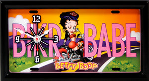 Betty Boop License Plate made Clock - Super Fan Cave