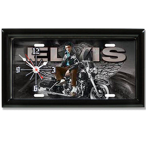 Elvis Presley License Plate made Clock - Super Fan Cave