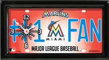 Load image into Gallery viewer, MLB Baseball Team Logo #1 Fan Licensed Plate Clock - Super Fan Cave