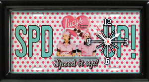 I Love Lucy License Plate made Clock - Super Fan Cave