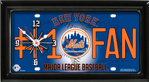 MLB Baseball Team Logo #1 Fan Licensed Plate Clock - Super Fan Cave