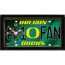 Load image into Gallery viewer, NCAA College Team Logo #1 Fan Licensed Plate Clock - Super Fan Cave
