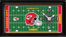 Load image into Gallery viewer, NFL Team Logo Football Field Licensed Plate Clock - Super Fan Cave