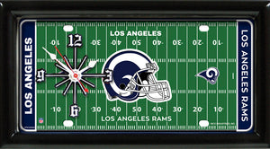 NFL Team Logo Football Field Licensed Plate Clock - Super Fan Cave