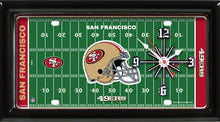 Load image into Gallery viewer, NFL Team Logo Football Field Licensed Plate Clock