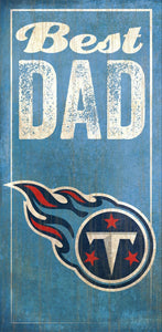 NFL Team Logo Wood Sign - Best Dad 6
