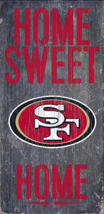 "NFL Team Logo Wood Sign - Home Sweet Home 6""x12"" - Super Fan Cave"