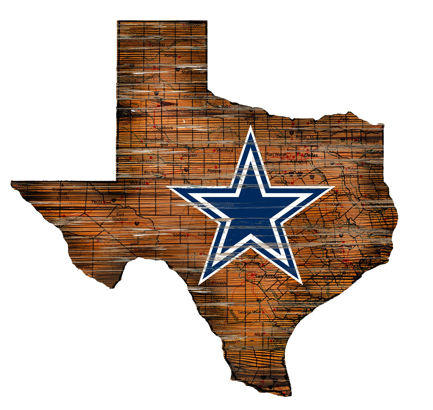on sale a673b f8443 Load image into Gallery viewer, NFL Team Logo State Design Wood Sign ...