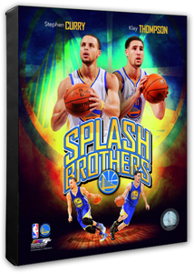 Stephen Curry & Klay Thompson Splash Brothers Portrait Plus Stretched Canvas Photo - Super Fan Cave