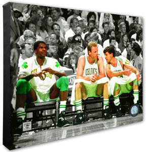 Robert Parish, Larry Bird, & Kevin McHale Celtics Spotlight Stretched Canvas Photo - Super Fan Cave
