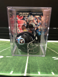 Tennessee Titans NFL mini helmet shadowbox w/ card - Super Fan Cave
