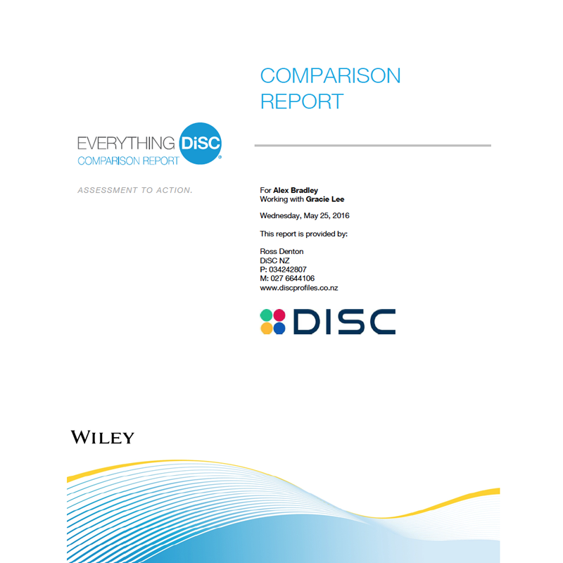 Everything DiSC Comparison Report
