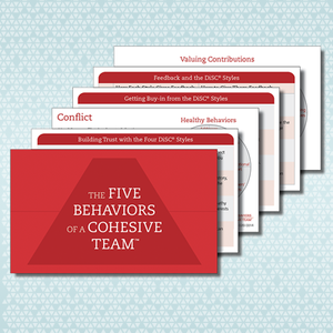 The Five Behaviors of a Cohesive Team™ Take-Away Cards