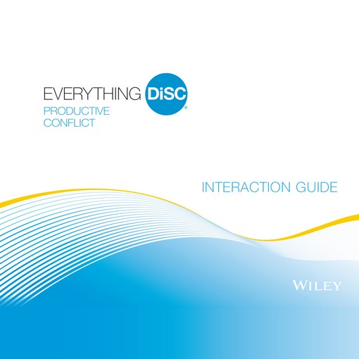 Everything DiSC® Productive Conflict Interaction Guides
