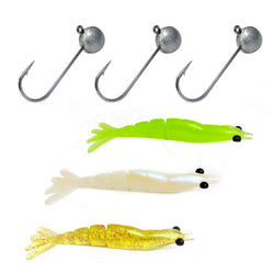 Kit Isca Artificial Monster 3x X Move 9cm 03 Uni E Jig Head