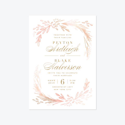 Intermezzo Wedding Invitation Suite - Invitation - by Kristie Kern for Skipt Paper Co.