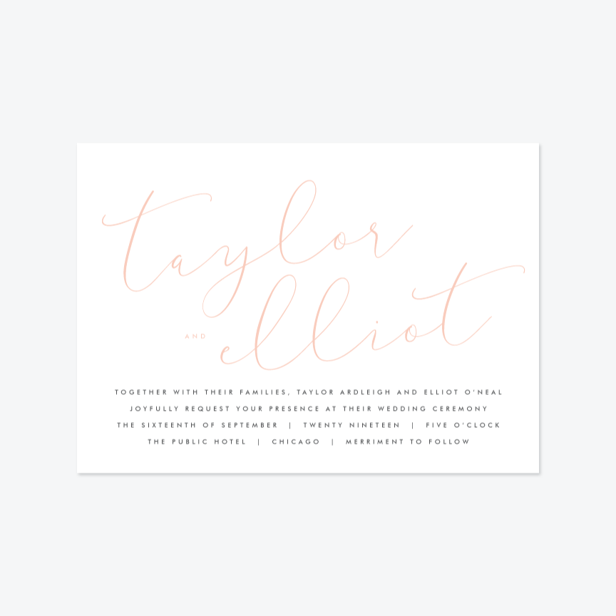 Union Wedding Invitation Suite - Invitation - by Kristie Kern for Skipt Paper Co.