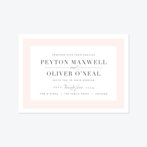 Modern Frame Wedding Invitation Suite - Invitation - by Kristie Kern for Skipt Paper Co.