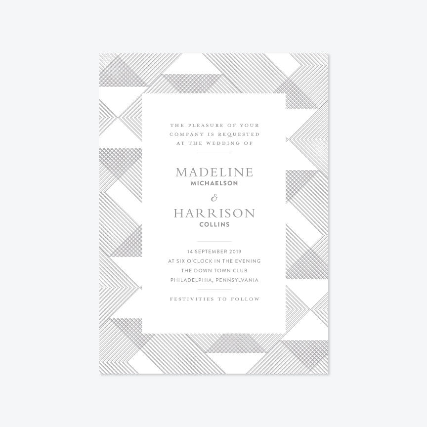 Buttoned Up Wedding Invitation Suite