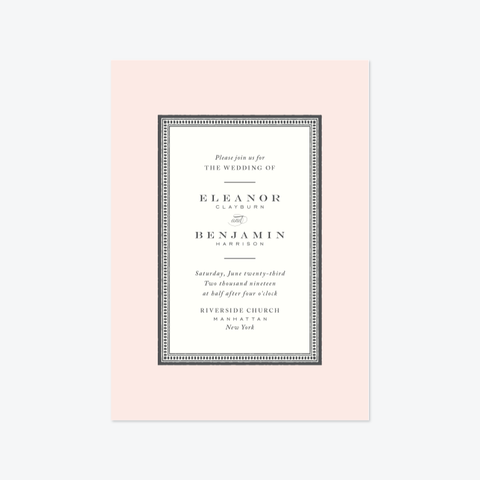 Entredeux Wedding Invitation Suite - Invitation - by Pera Press for Skipt Paper Co.