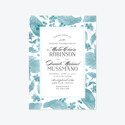 Falling Leaves Wedding Invitation Suite - Invitation - by Chris Griffith for Skipt Paper Co.