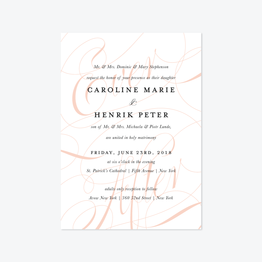 Ever After Wedding Invitation Suite - Invitation - by Up Up Creative for Skipt Paper Co.