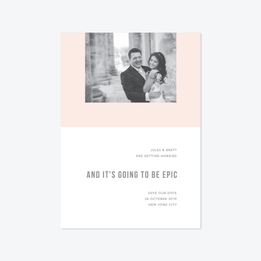 So Epic Photo Save the Date - Photo Save the Date - by Carol Fazio Design for Skipt Paper Co.