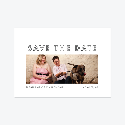 Modern Love Save the Date - Photo Save the Date - by That Girl Press for Skipt Paper Co.