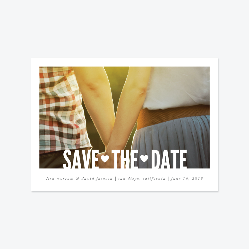 Lasercut Save the Date - Photo Save the Date - by That Girl Press for Skipt Paper Co.