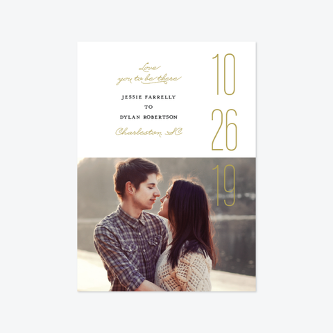 Be There Save the Date - Photo Save the Date - by Carol Fazio Design for Skipt Paper Co.
