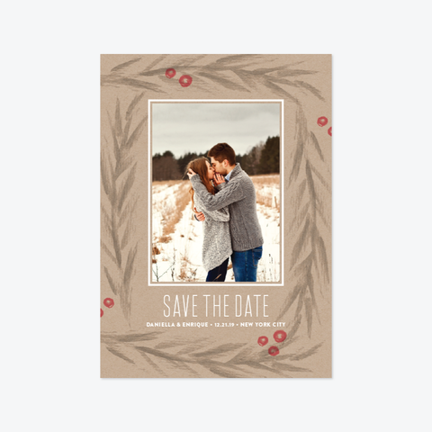 Winter Boughs Save the Date - Photo Save the Date - by Carol Fazio Design for Skipt Paper Co.
