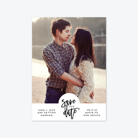 Notched Save the Date - Photo Save the Date - by Ellis Design for Skipt Paper Co.