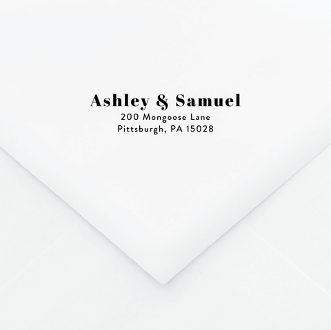 Ampersand Personalized Address Stamp