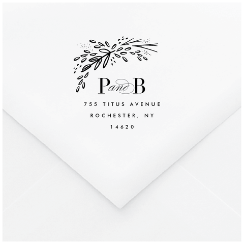 Intermezzo Personalized Address Stamp