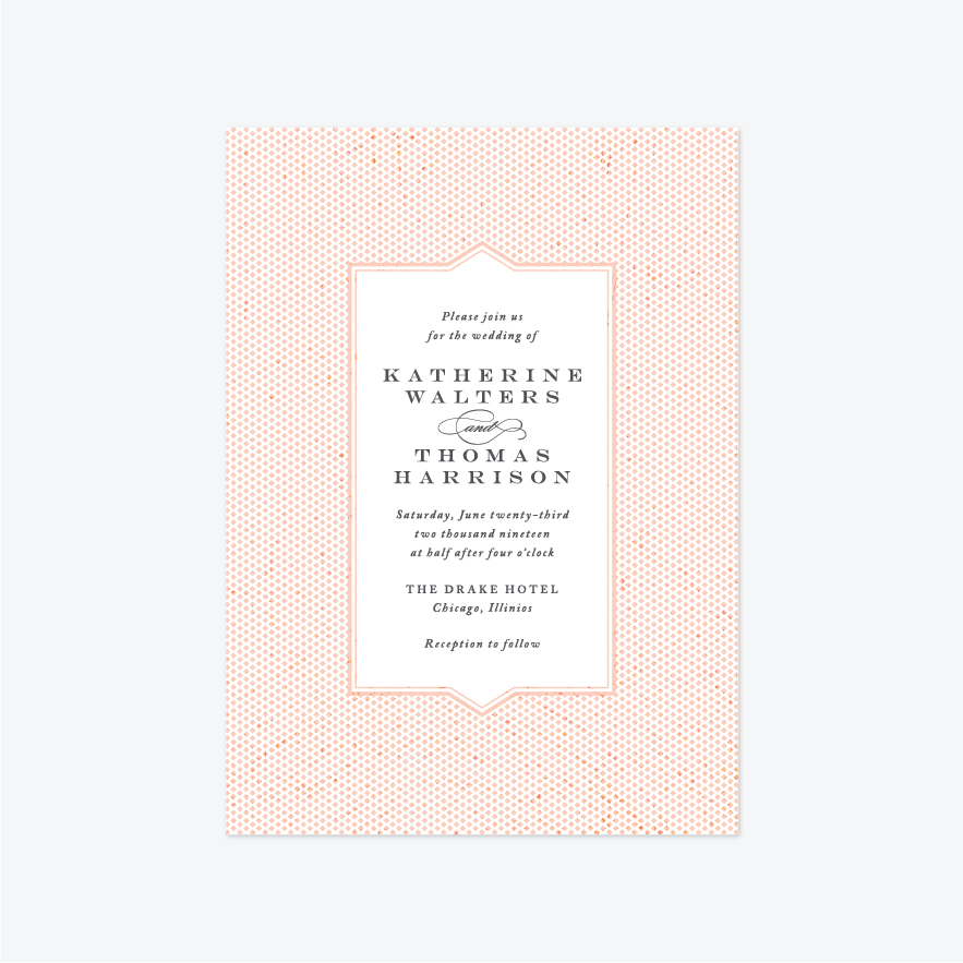 Title Page Wedding Invitation Suite - Invitation - by Pera Press for Skipt Paper Co.