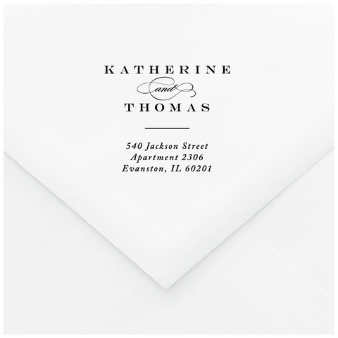Title Page Personalized Address Stamp