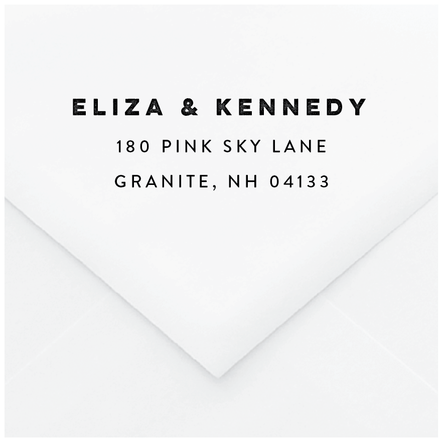 Prismatic Personalized Address Stamp